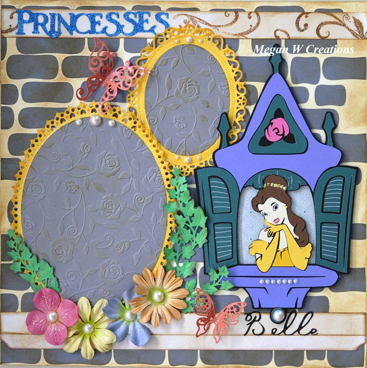 Disney Princess Belle in Beauty and the Beast Scrapbook Layout 2