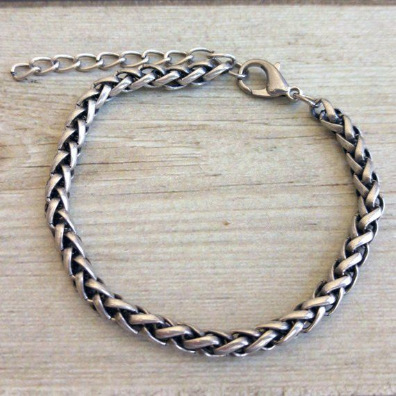 Mens Silver Bracelet , Mens Bracelet , Mens Chain Bracelet , Mens Gift , Bracelet For Man , Guy Brac