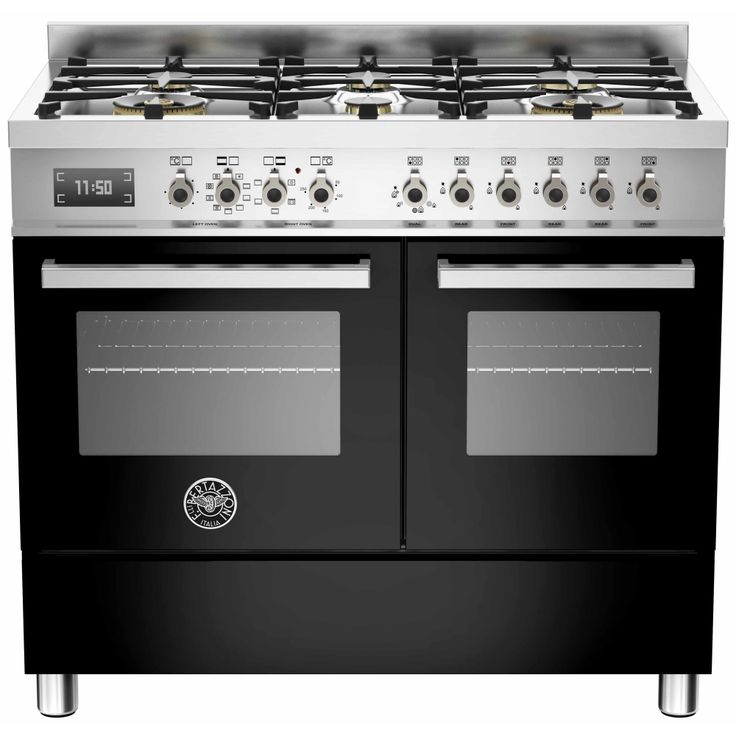 Bertazzoni Pro Dual Fuel Range Cooker - Bertazzonis Professional PRO1006MFEDNET Dual Fuel Range Cooker comes in black with stainless steel and is the perfect size for a family. Its really easy to use and has the best of both gas and electri http://www.MightGet.com/february-2017-2/bertazzoni-pro-dual-fuel-range-cooker-.asp