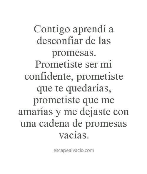 Promesas vacias