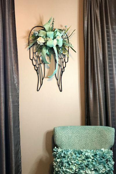 DIY Angel Wings Flower Swag