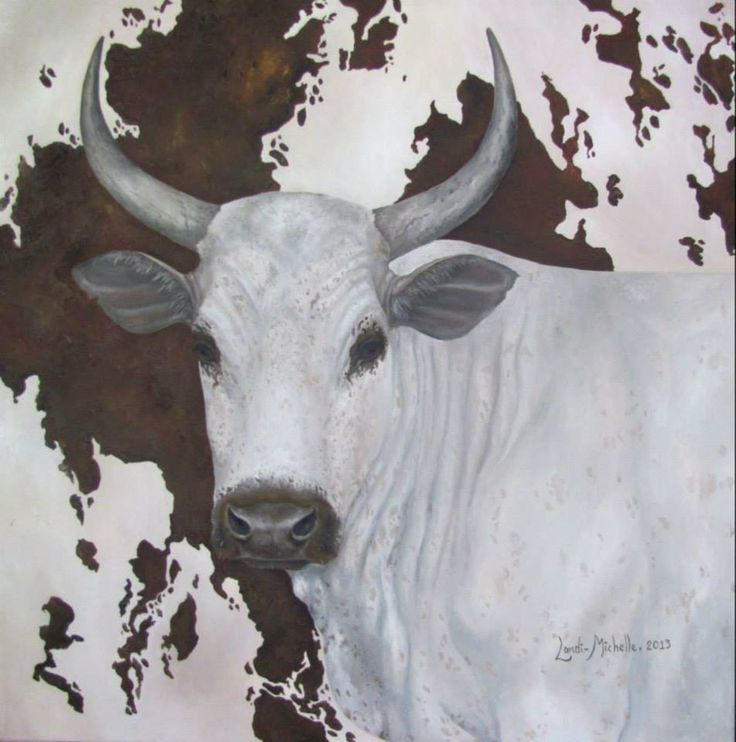 1. Royal Cattle (THE),  [ Item 'A' of Royal Cattle Collection] oil on canvas by Landi-Michelle van den Berg