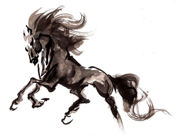 Horse, Chinese Painting. by jodicchan on @DeviantArt