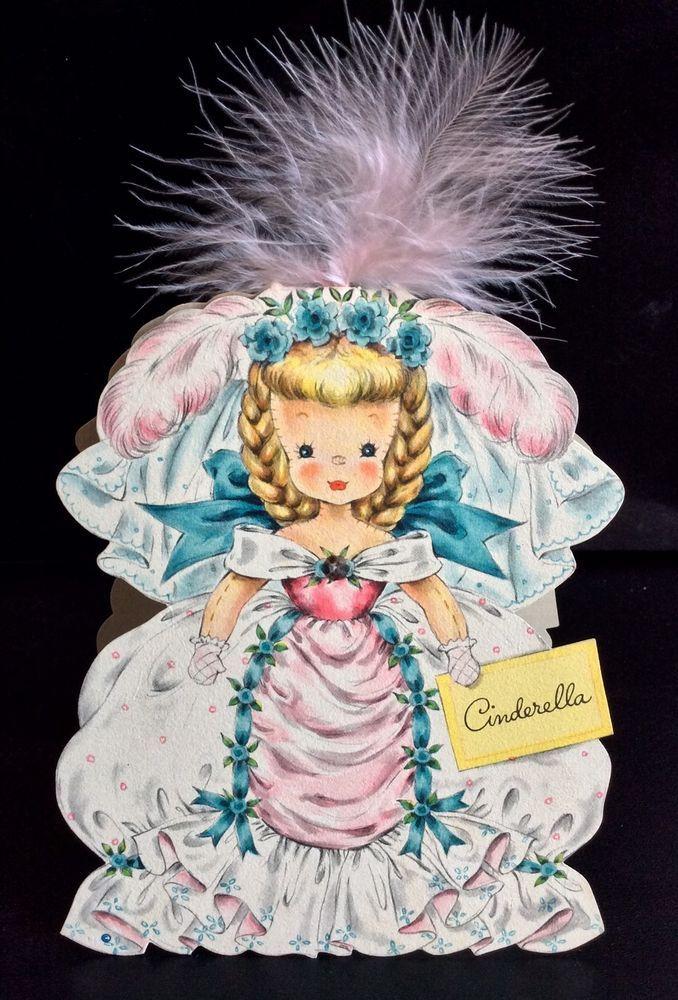 Cinderella VINTAGE Hallmark Doll Card Land Of Make Believe Series #2