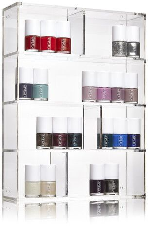 How to store your nail polish in a cool Way  APPEAL4 plexi display   http://www.appeal4.dk/collections/outlet/products/plexiglas-display  Buy it here