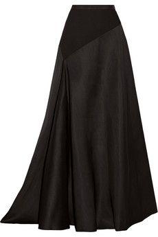 Lanvin Jersey-paneled wool and silk-blend maxi skirt | NET-A-PORTER