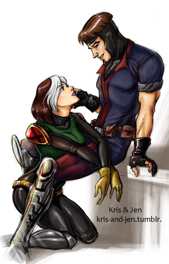Gambit & Rogue, X-Men Evolution style, by Kris & Jen.