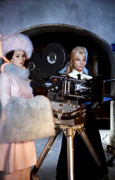 Geraldine Chaplin & Julie Christie on the set of Doctor Zhivago. 1965
