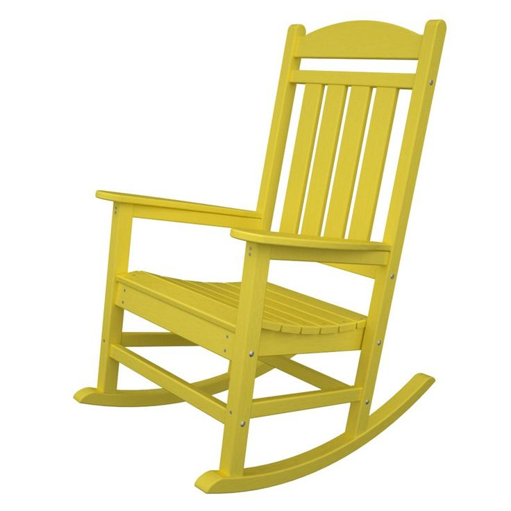 Outdoor POLYWOOD® Presidential Recycled Plastic Rocking Chair Lemon    R100LE