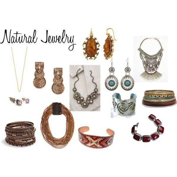 Natural Jewelry by expressingyourtruth on Polyvore featuring Free People, Deepa Gurnani, Brunello Cucinelli, BKE, LowLuv and Katie Rowland