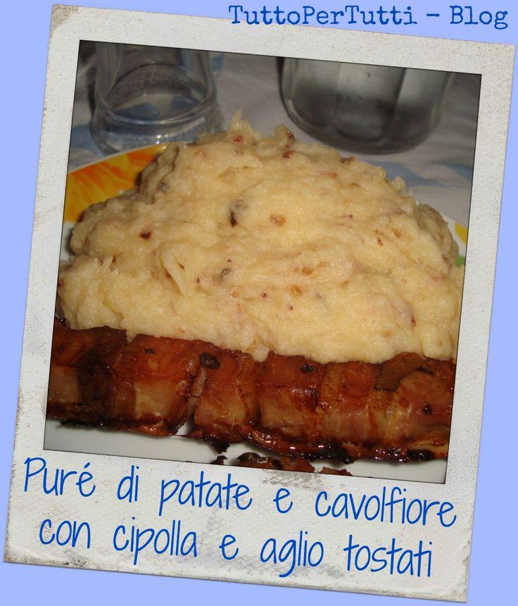 TuttoPerTutti: PURÈ DI PATATE E CAVOLFIORE CON CIPOLLA E AGLIO TOSTATI un delizioso contorno per cena... http://tucc-per-tucc.blogspot.it/2015/03/pure-di-patate-e-cavolfiore-con-cipolla.html