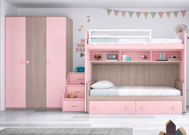 Las 25 mejores ideas sobre escaleras para literas en for Precios de dormitorios infantiles
