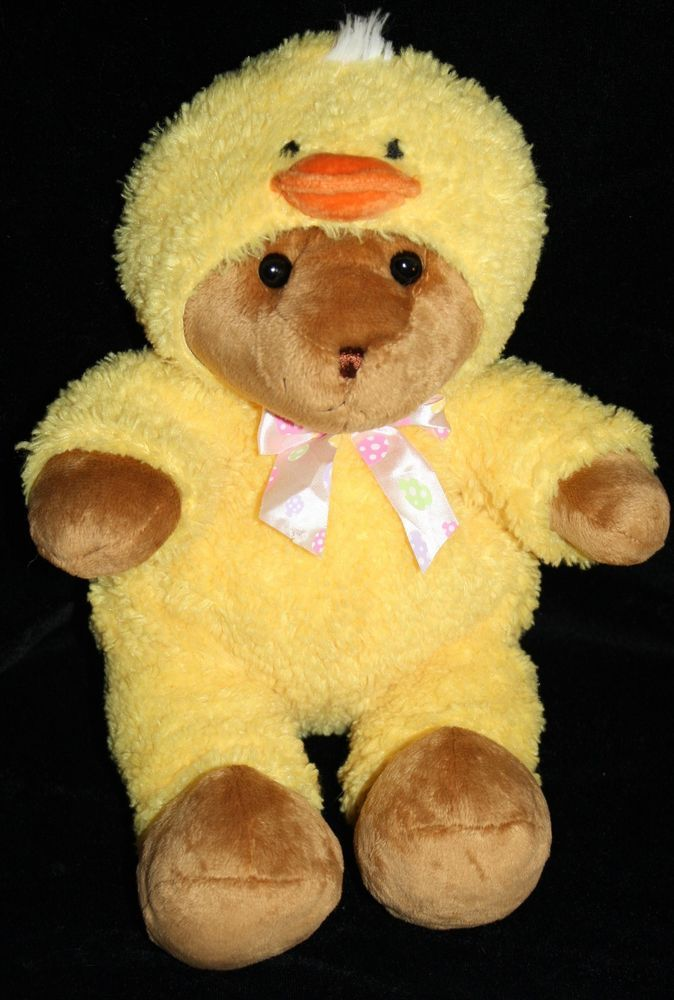 Easter Baskets For Sale: Target Teddy Bear In Duck Costume Hood Easter Egg Bow