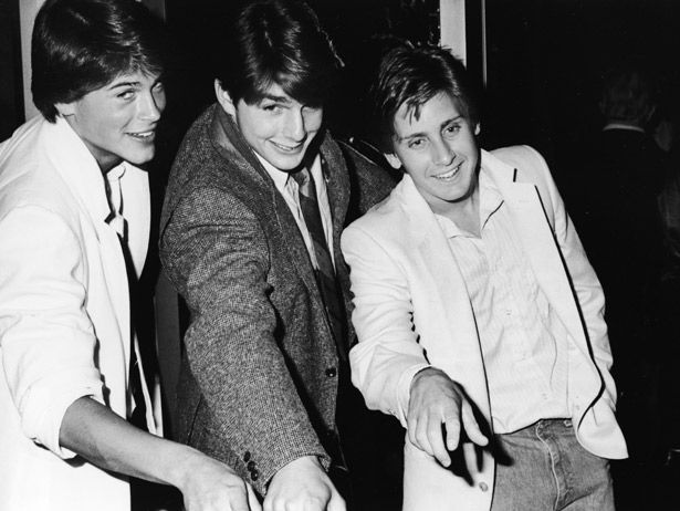 Tom Cruise joins Rob Lowe and Emilio Estevez in some kind of super handsome barber shop quartet for the 1982 premiere of In The Custody of Strangers.