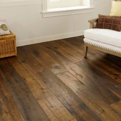 LVT flooring. Luxury Vinyl Tile. Looks like wood, but it's vinyl. For kitchen/great room if it is more cost effective. mediterranean wood flooring by CheaperFloors