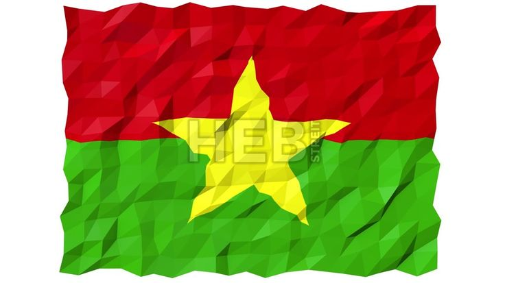 Flag of Burkina Faso 3D Wallpaper Animation, National Symbol, Seamless Looping Footage... ... by #Hebstreit