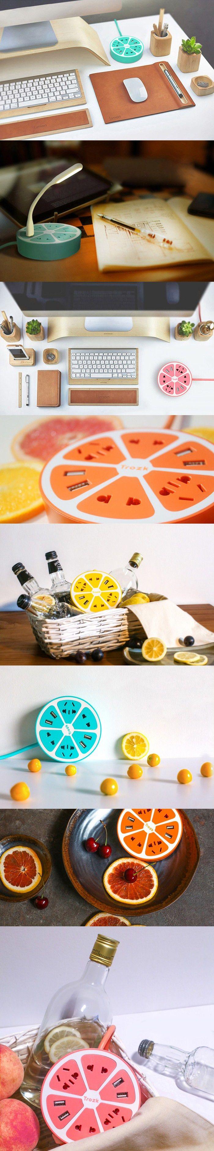 Trozk Lemon Shape Charging Power Strip  -  YELLOW                                                                                                                                                     More