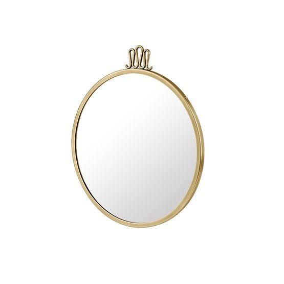 Randaccio spegel - Randaccio spegel - mässing, liten