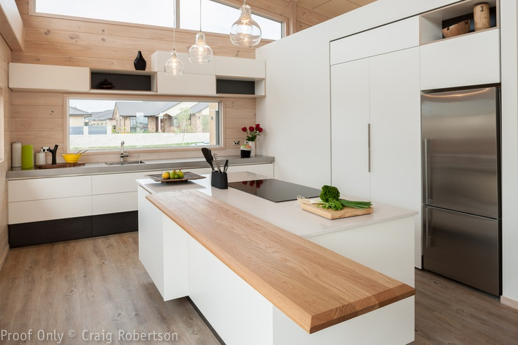 Modern Kitchen with a twist from Lockwood Homes,New Zealand