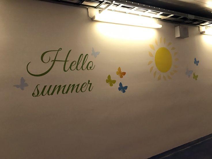Wall decorations at Helsinki-Vantaa WTC.