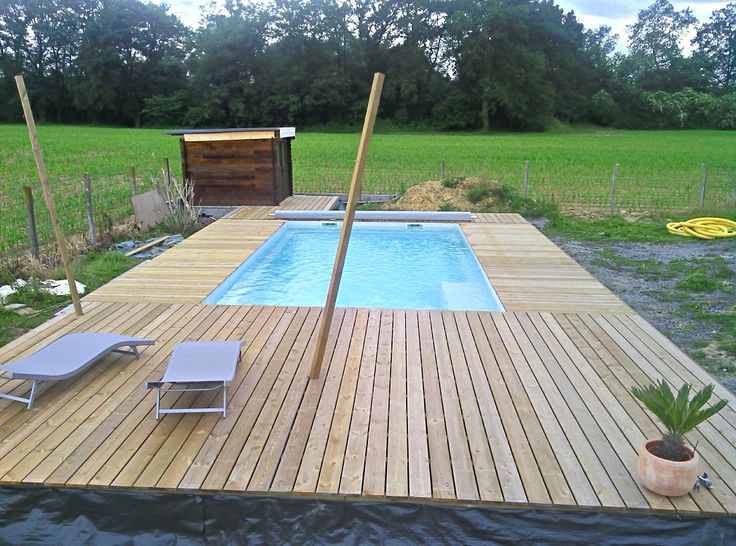 16 best PISCINE images on Pinterest Mini pool, Petite piscine and - Piscine A Construire Soi Meme