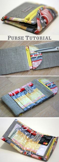 Coin Purse Pouch. Free pattern, quick and easy to sew. Photo Tutorial  http://www.handmadiya.com/2015/10/purse-tutorial-sewing.html