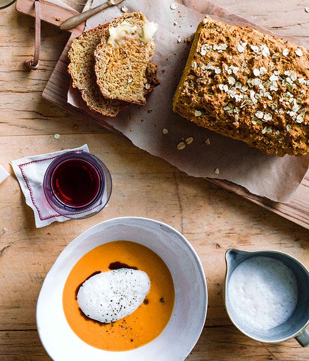 Australian Gourmet Traveller recipe for black treacle soda bread by Brett Graham, The Ledbury.