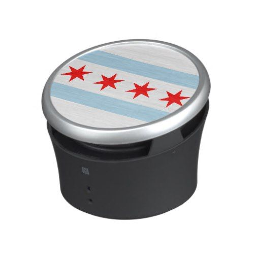 Flag of Chicago, Illinois Bluetooth Speaker