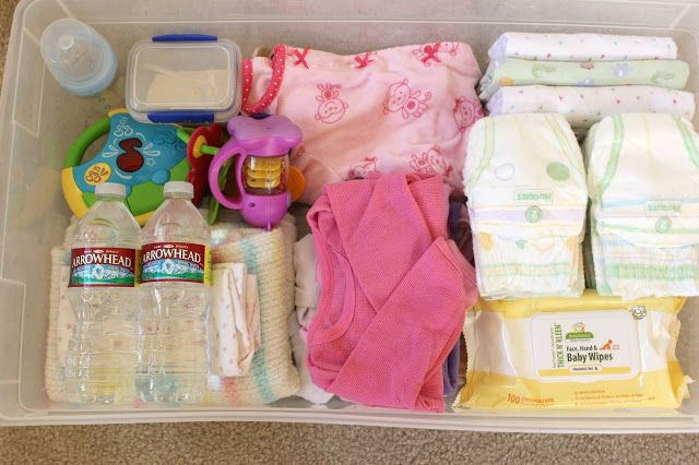 Great idea for moms on the go. Back up travel kit for the car that takes about 20 mins. to pack. Still pack the diaper bag, though.