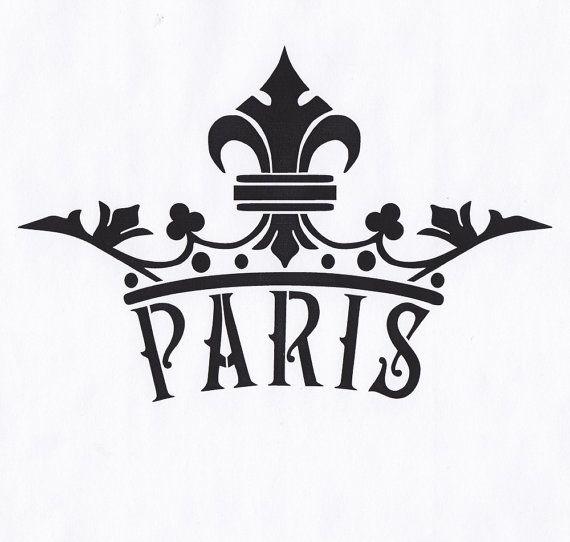 Stencil King Crown: Paris Stencil Crown Fleur De Lis Queen King Royal By