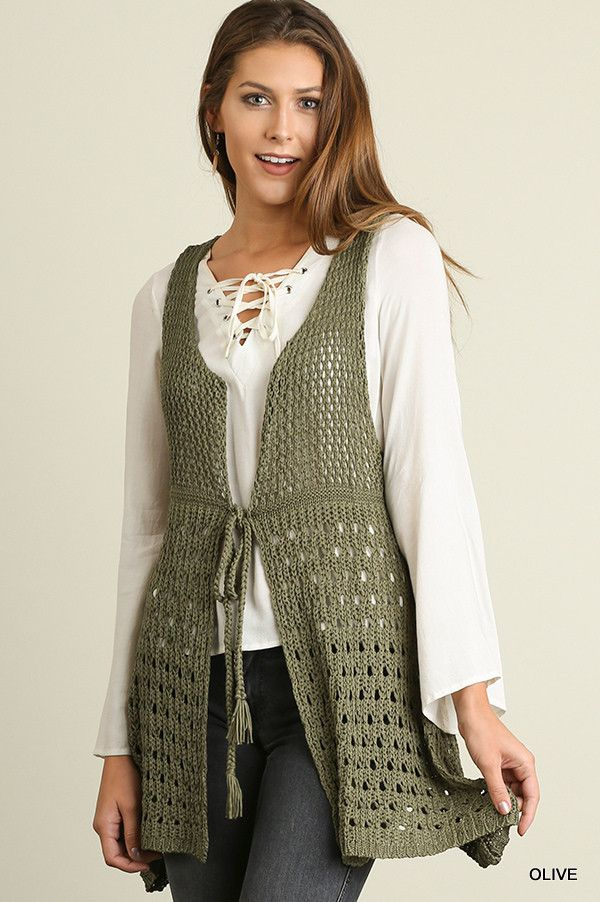Sugar Vest- Olive from Chocolate Shoe Boutique