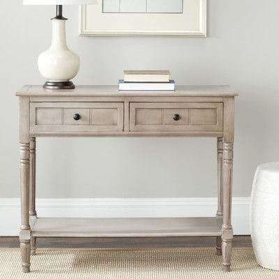 Safavieh Sam 2 Drawer Console Table & Reviews   Wayfair  Like the gray color