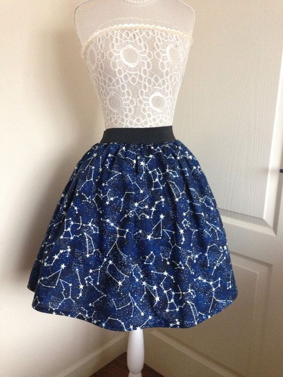 Hey, I found this really awesome Etsy listing at https://www.etsy.com/listing/210818970/constellations-skater-style-skirt