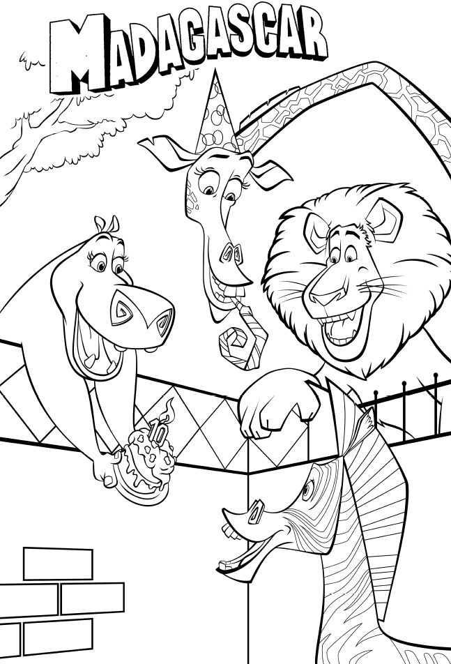 Madagascar birthday marty coloring pages madagascar coloring pages kidsdrawing free coloring pages online