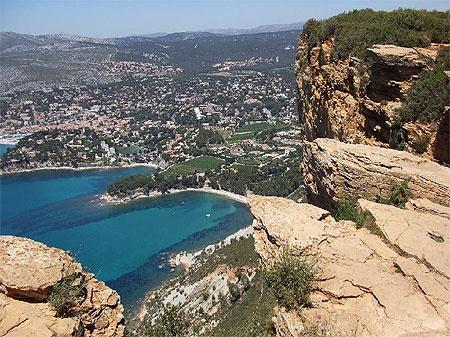 La route des cretes entre La Ciotat et Cassis, France