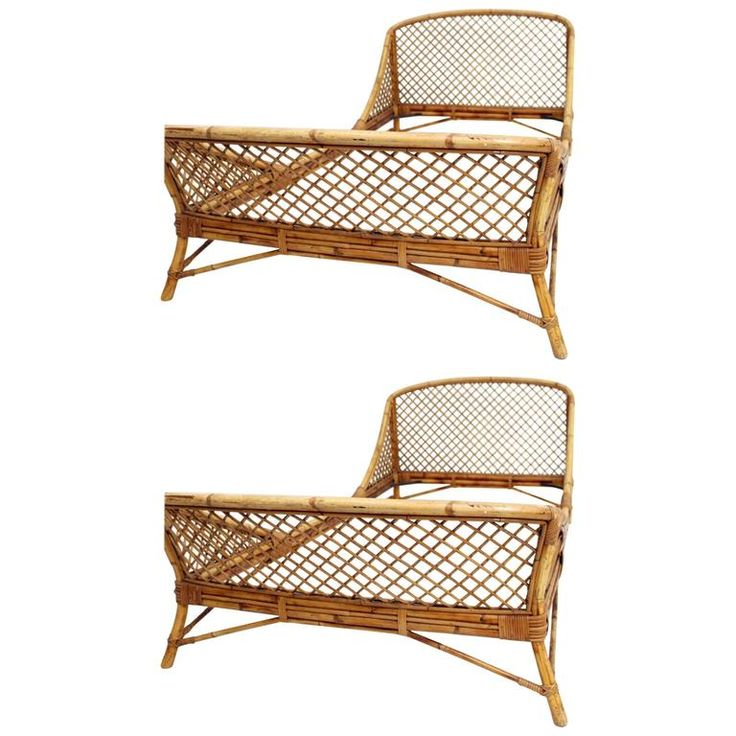 Best Pair Of 1950S Mid Century Modern Rattan And Bamboo French 400 x 300