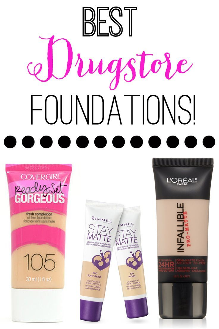 BEST DRUGSTORE FOUNDATIONS!! Full coverage, light coverage, long lasting, even an amazing mineral foundation. Great options for everyone!
