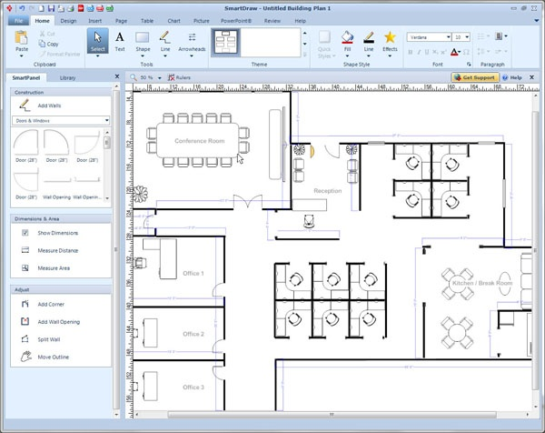 smartdraw vp the worlds first visual processor - Smartdraw Floor Plan Tutorial