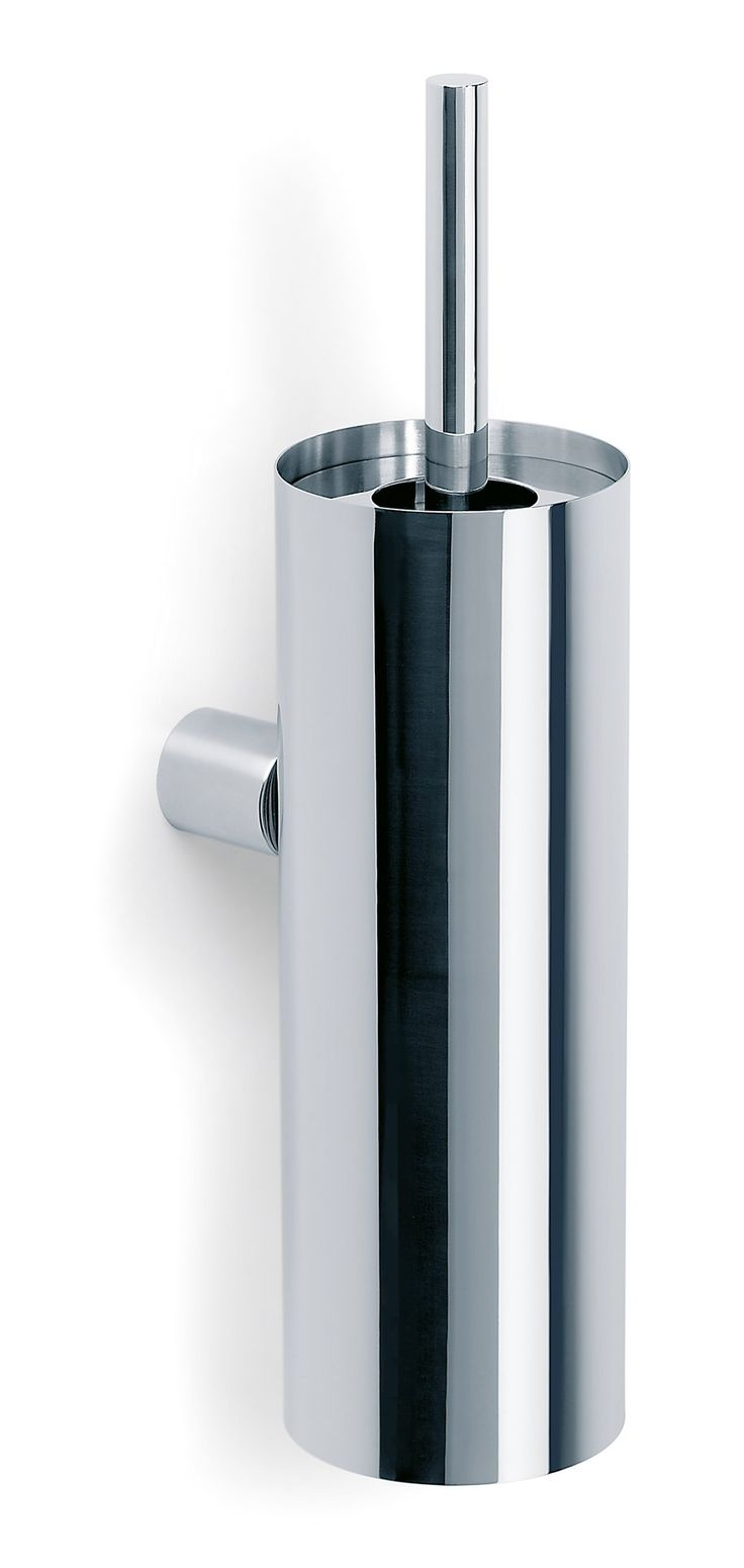 Modern bathroom exhaust venti invisible wall mounted fan - Blomus 68576 Duo Polished Toilet Brush Holder With Wall Bracket