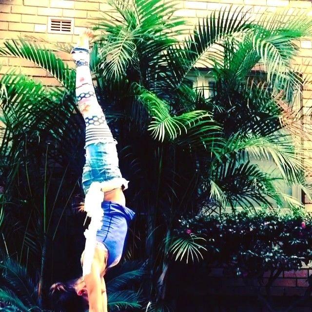 #yoga #liquidoactivewear #handstand #happy