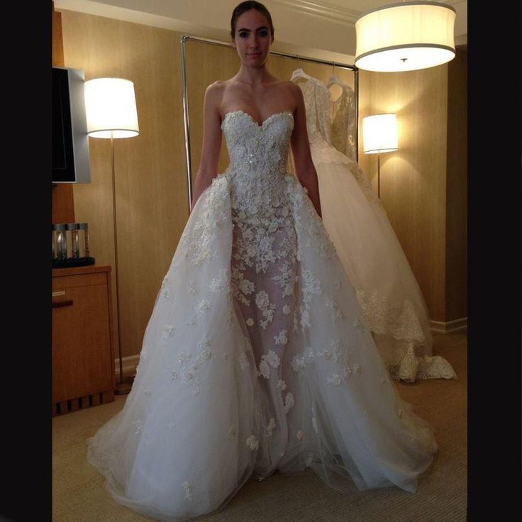 Bridal Dress With Detachable Train: Buy Gorgeous Wedding Dress -Ivory Mermaid Sweetheart