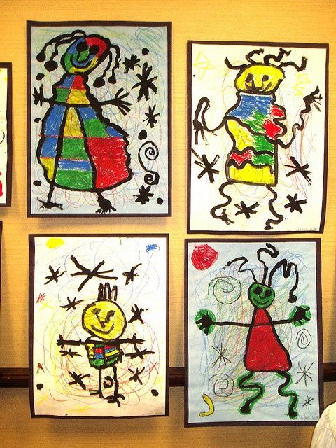 Très ressemblant à un jeu/oeuvre fait avec mes élèves sur le peintre Miro