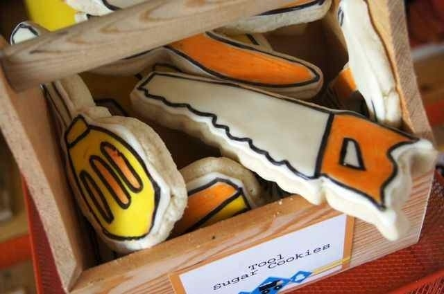 Construction Cookies  Boys party ideas  www.spaceshipsandlaserbeams.com