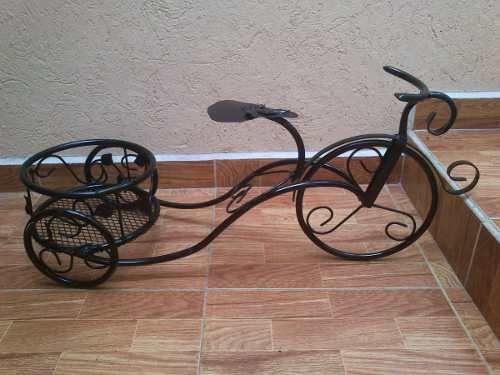 Porta Macetas De Herreria Triciclo Posot Class