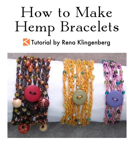 How to Make Hemp Bracelets Tutorial by Rena Klingenberg