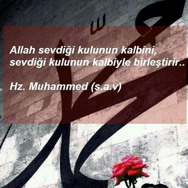 Allah sevdiği kulun kalbini sevdiği kulunun kalbiyle birleştirir...