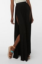 Love this! @ Urban Outfitters: Urban Outfitters, Slit Skirts, Festivals Style, Spandex Shorts, Double Slit, Urbanoutfitt Com, Ecot Double, Ecote Double, Maxi Skirts