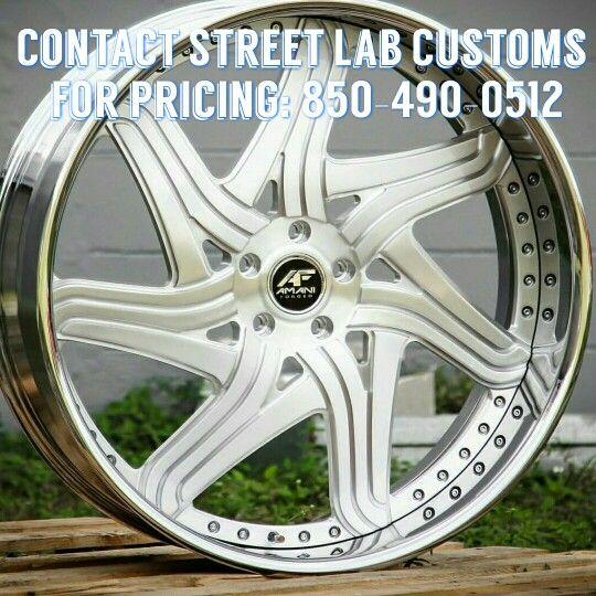 Amani Forged STREETLAB CUSTOMS : call (850) 490-0512 for wheel and tire package deals #streetlabcustoms #swangas #texas #florida #pokin #caddy #cadillac #eldorado #challenger #camaro #charger #suv #truck #car #chevrolet #dodge #nissan #caprice #dodge #impala #luxury #box #bubble #donk #lexus #benz #bmw #300 #whips #dealsonwheels #rides #screens #apple #navigation #bluetooth #dealsonrims #dealsontires #hot #toyota #GMC #fordtruck #GMCtruck #bigbody #customrims #audio #tires #classic #modern…