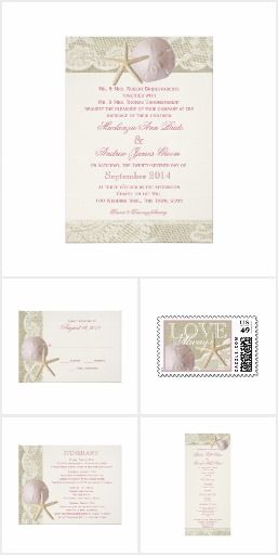 Vintage Beach Blush Wedding Invitation Set. These nautical wedding invitation sets / stationary / suites may include: Wedding invitation cards, wedding envelopes, wedding RSVP Cards, wedding address labels, save the dates, wedding programs, wedding thank you cards, rehearsal dinners and more matching wedding products.