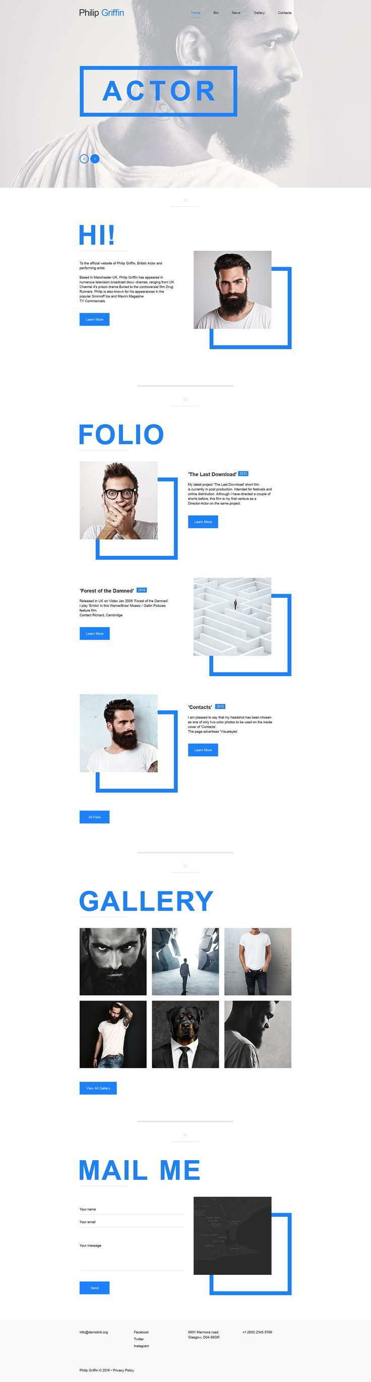 Personal Page Muse Template #57719